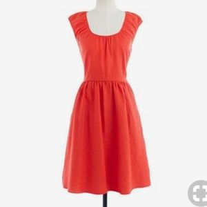 J. Crew Orange Linen Dress